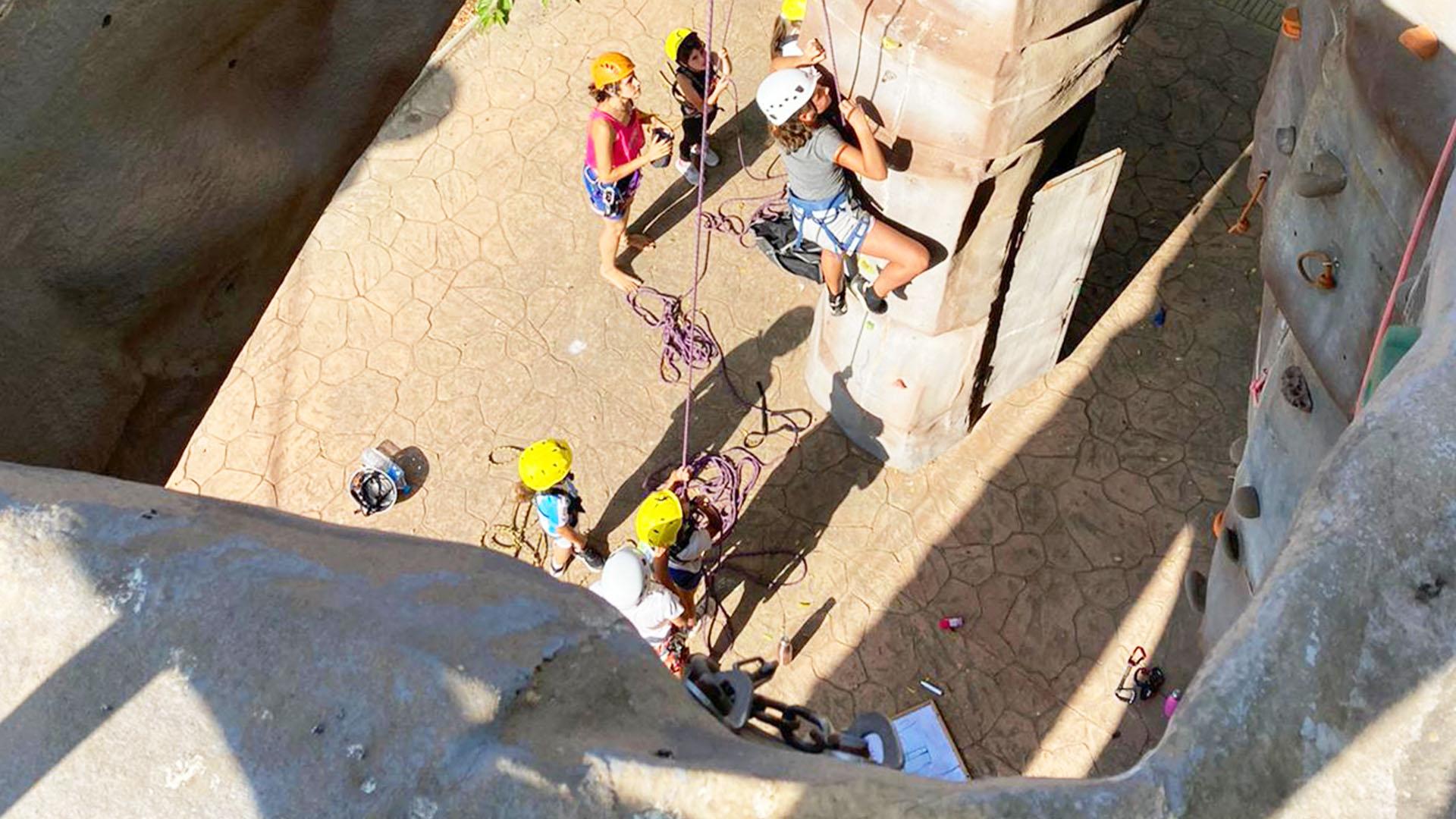 El Club Alpino Ama Dablam, dará por finalizados los talleres de escalada infantiles
