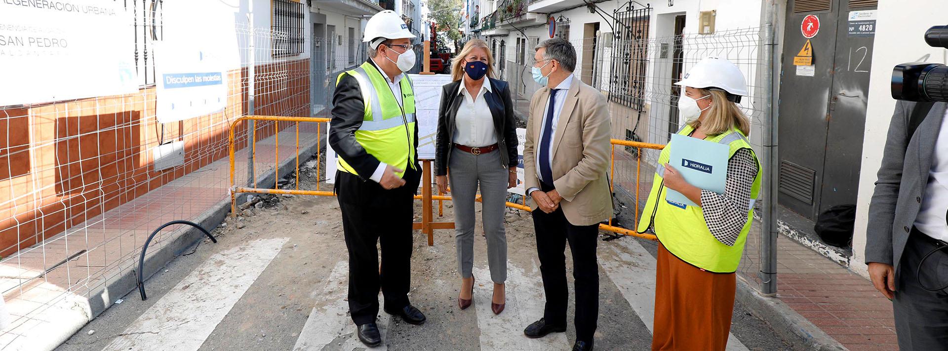 Continúan las obras en el barrio de Los Catalanes